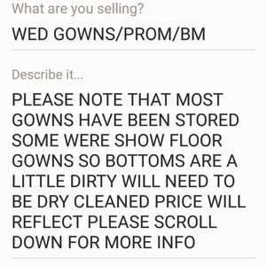 Dresses & Skirts - WED GOWNS/PROM/BM